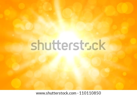 yellow abstract with star and circles background. - stock photo