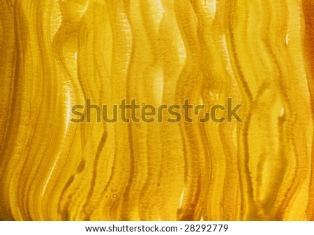 yellow and brown watercolor abstract background hand painted with wavy vertical brush strokes, self made