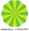 Yellow and Green Circular Style Pattern - stock photo