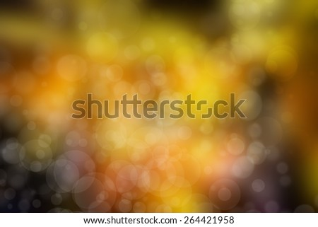 yellow and orange abstract background with beautiful bokeh - stock photo