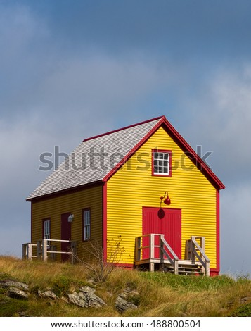 Yellow and orange house