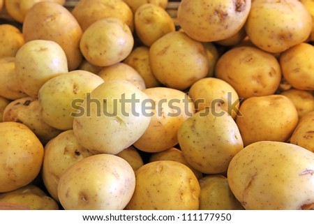 Yellow and orange potatoes
