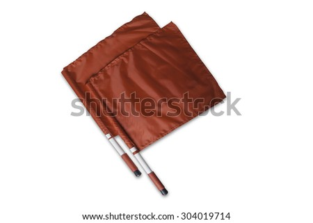 Yellow and Red Referee Cards (File includes clipping path) - stock photo