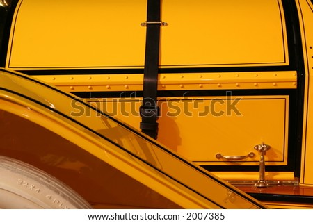 yellow antique roadster