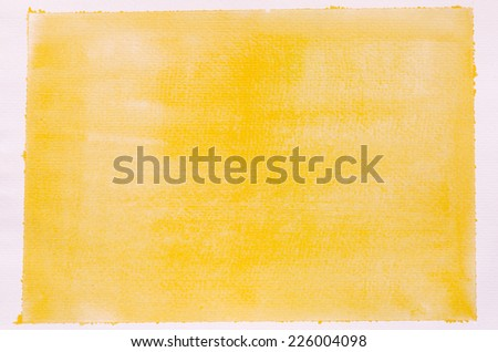 yellow  background of watercolor painting texture - stock photo