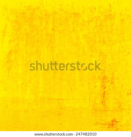 yellow background painted wall texture - stock photo