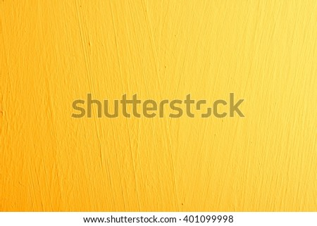 Yellow background wall texture. - stock photo