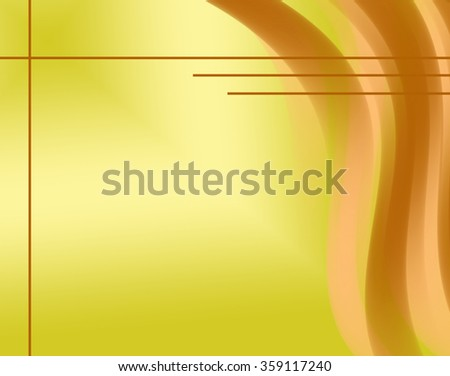 yellow background with lines - abstract - stock photo