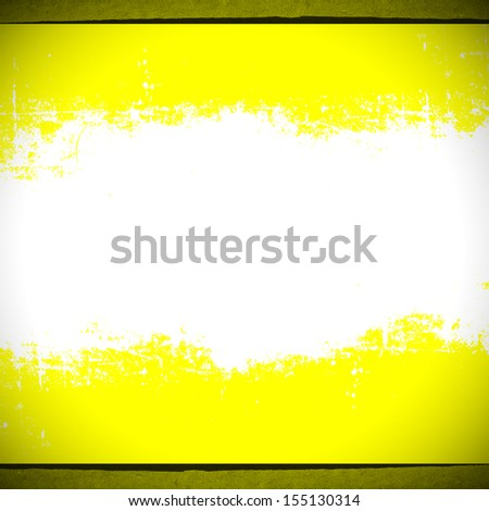 yellow background with white torn strip