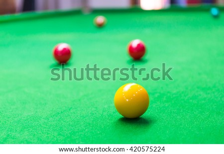 how to set up pool balls red yellow