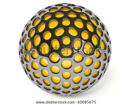 yellow ball on white background