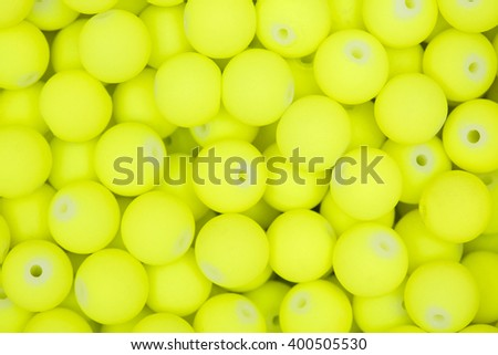Yellow beads for Background and texture.