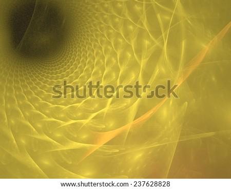 yellow beautiful abstract light tunnel background - stock photo