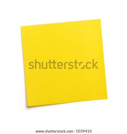 Yellow blank post-it note