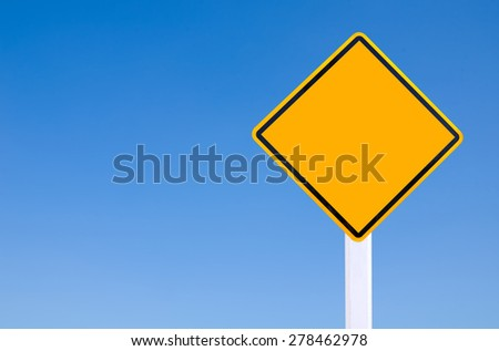 Yellow Blank Sign - stock photo