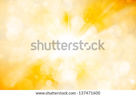 yellow bokeh abstract background - stock photo
