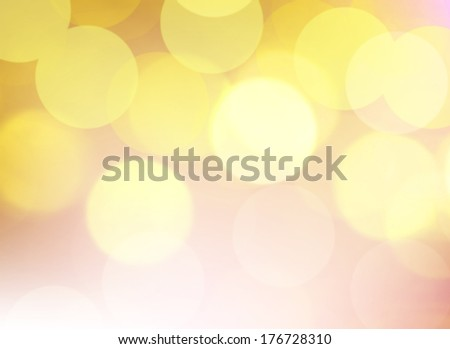 yellow bokeh abstract light background.