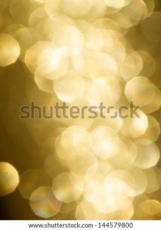 Yellow Bokeh effect decoration - stock photo