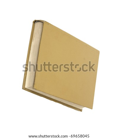 Yellow book isolated on white background