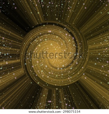 Yellow burst star abstract