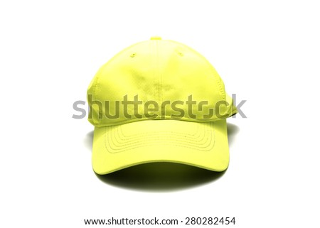 yellow cap isolated on white background