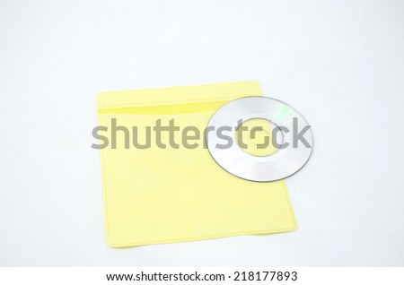 Yellow CD Case isolate on white background