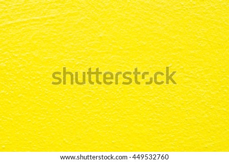 Yellow cement surface
