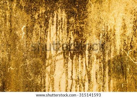 Yellow cement wall texture