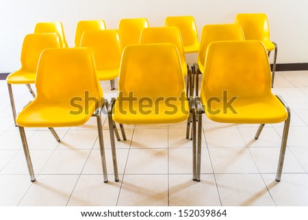 Yellow chair in room