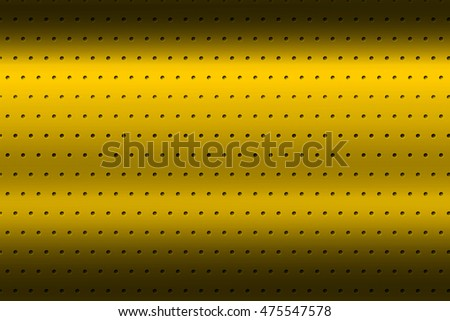 yellow chrome metallic mesh. metal background and texture. 3d illustration.