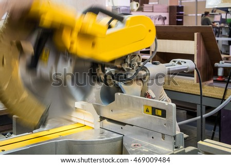 yellow circular saw