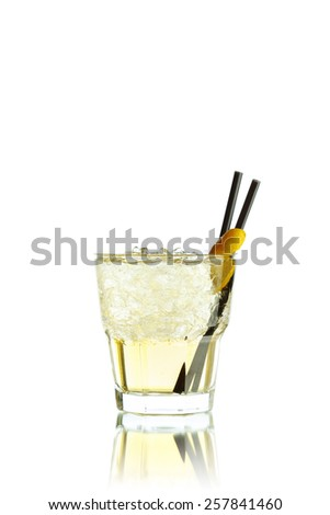 Yellow Coctail - stock photo