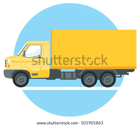 yellow commercial truck