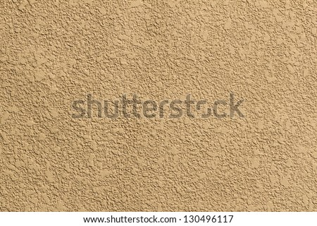 Yellow Concrete Background, showing Coarse Texture on Concrete Wall