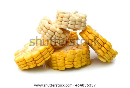 Yellow corn isolated on a white background
