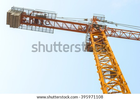 yellow crane in for construction