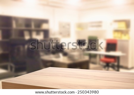yellow desk and office  - stock photo