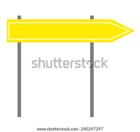 Yellow Directional Road Sign