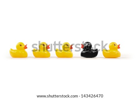 yellow duck - stock photo
