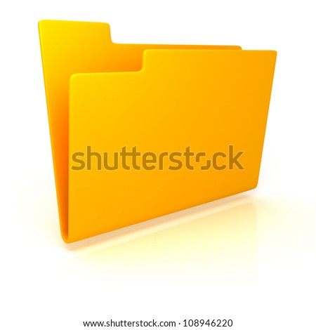 yellow empty folder