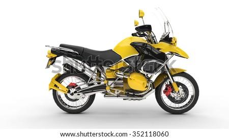 Yellow Fast Bike - stock photo