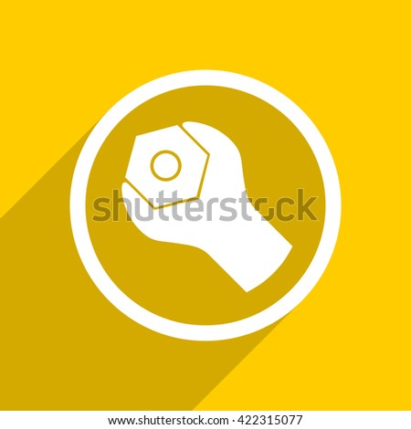 yellow flat design tool web modern icon for mobile app and internet