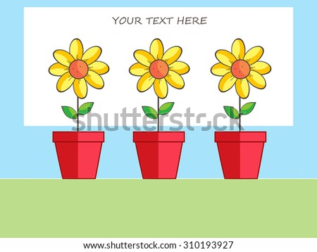 Yellow Flowers - Your Text Here