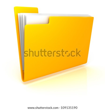 yellow folder with documents
