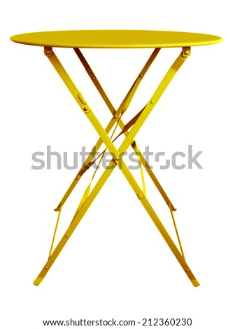 Threelegged Tourist Portable Chair Stock Vector 196953362