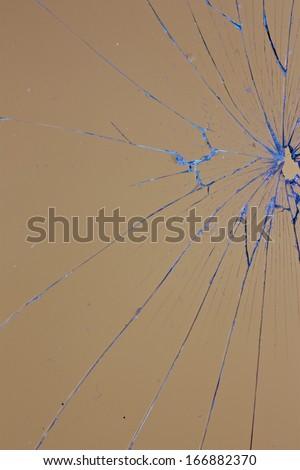 yellow glass broken - stock photo