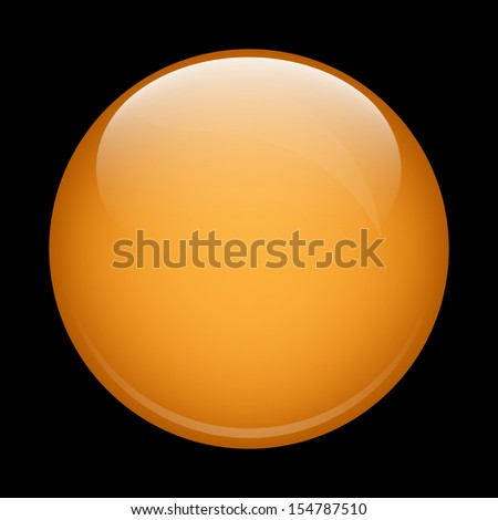 Yellow glass sphere on a black background - stock photo