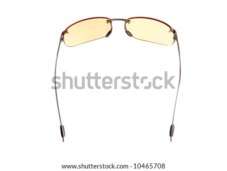 yellow glasses. isolated on white background