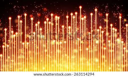 yellow glowing musical equalizer. Computer generated abstract background  - stock photo