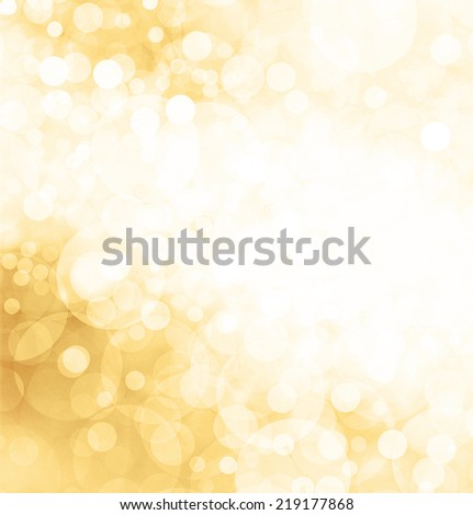 yellow gold background, Christmas lights twinkling, sparkling shining stars or snowflakes in sky, elegant new years celebration background, wedding invitation announcement, abstract gold background - stock photo
